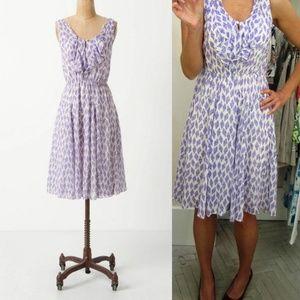 Anthro Meadow Rue Diamond Kite Ruffle Dress